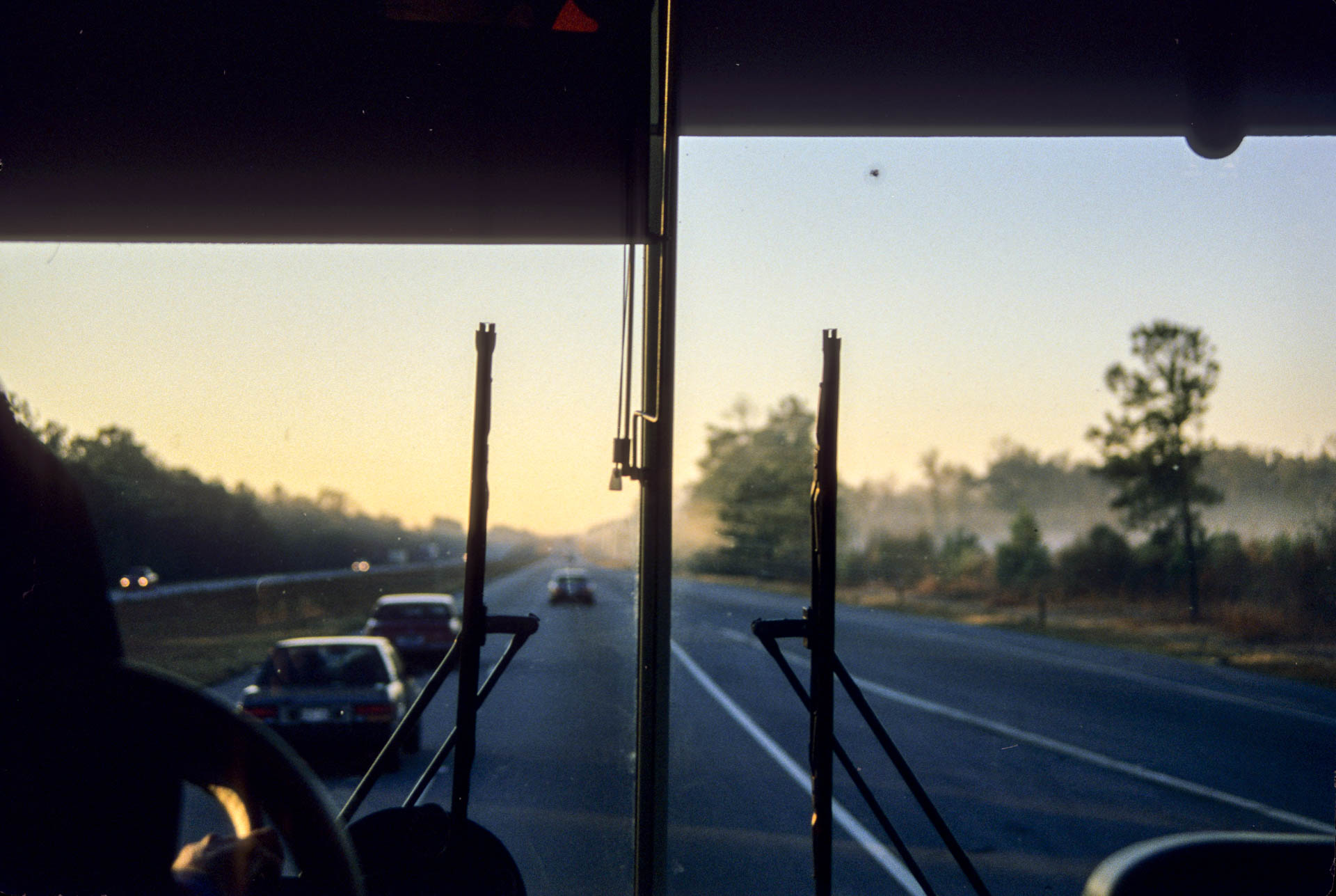 36 hour of bus non-stop to get to Florida... sunrise on the bus!