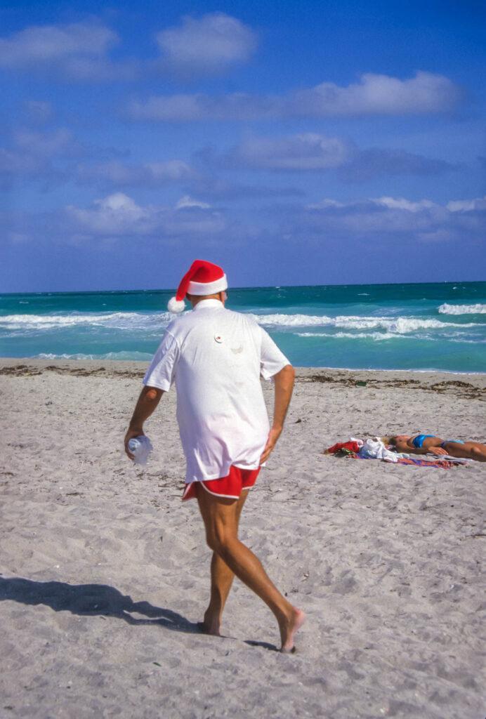 Miami Beach Santa Claus on the prowl...