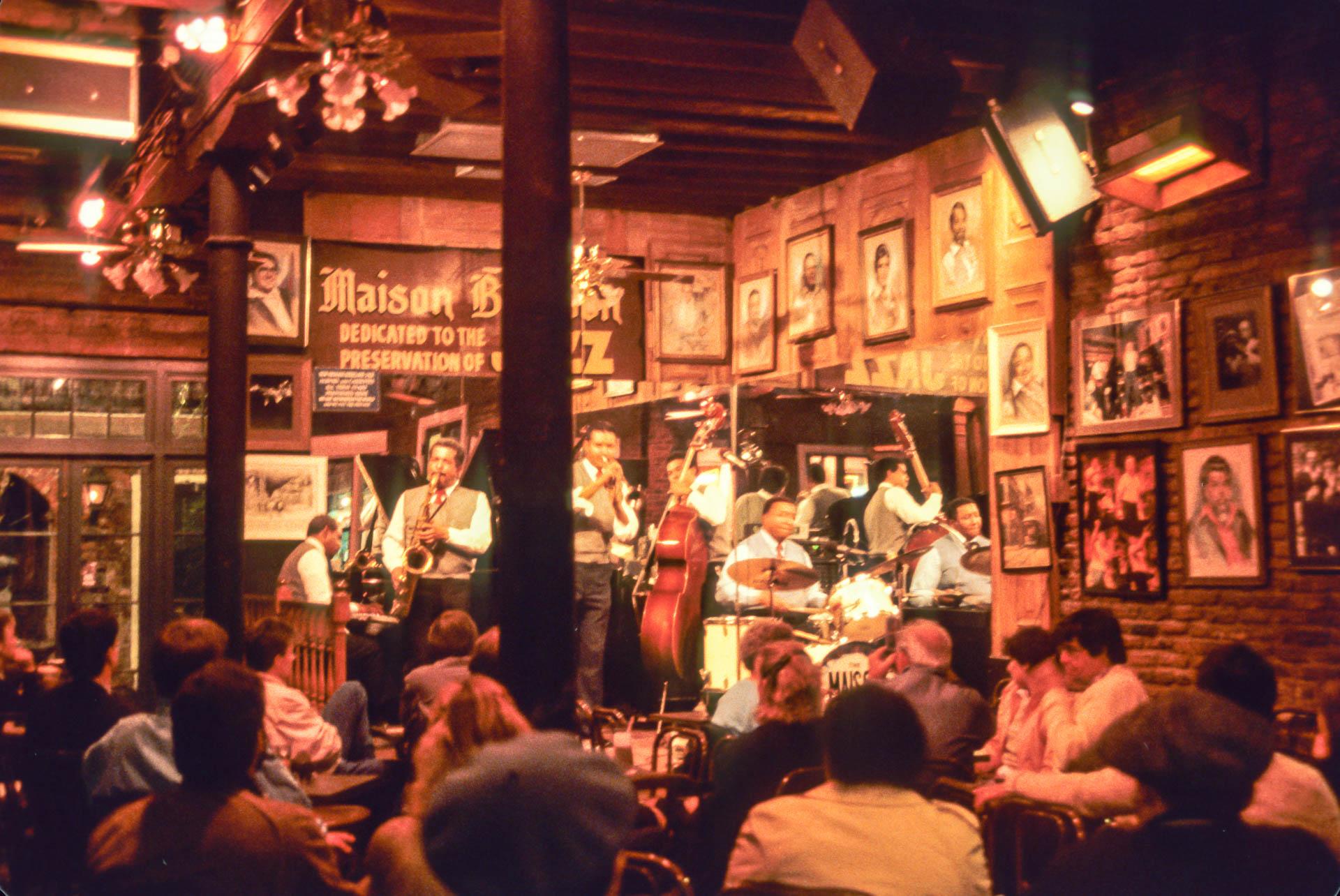 Jazz club, New Orleans, 1987