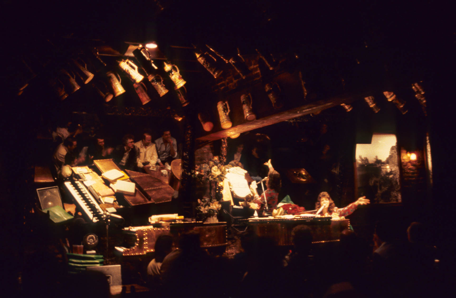 Dueling pianos, New Orleans, 1987