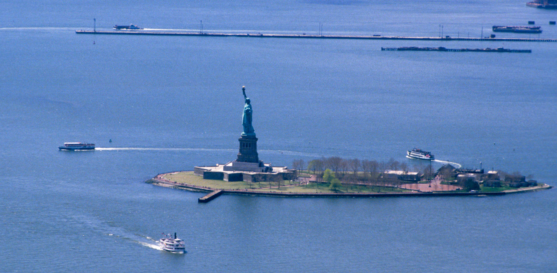 Statue of Liberty seen from the World Trade Center, 1987