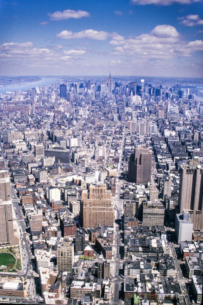 Manhattan Uptown seen from the World Trade Center, 1987