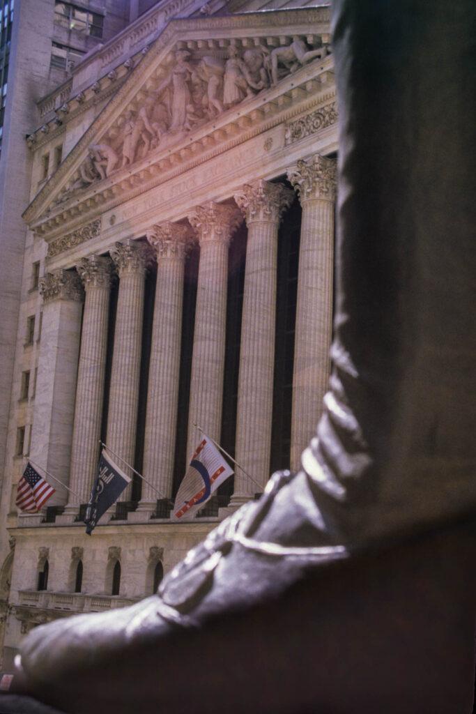 Wall Street, New York Stock Exchange, New York City, 1987