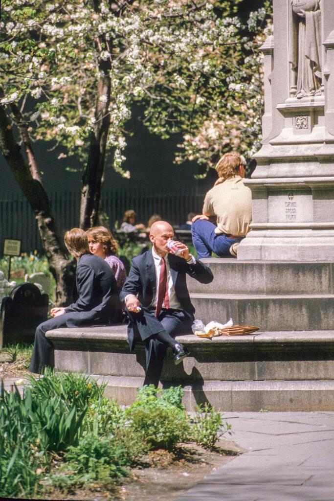 Businessman in Wall Street, New York City, 1987
