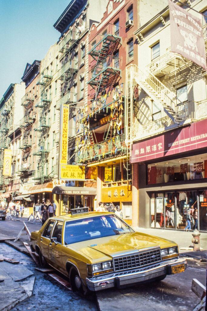 Yellow cab, New York City, 1987
