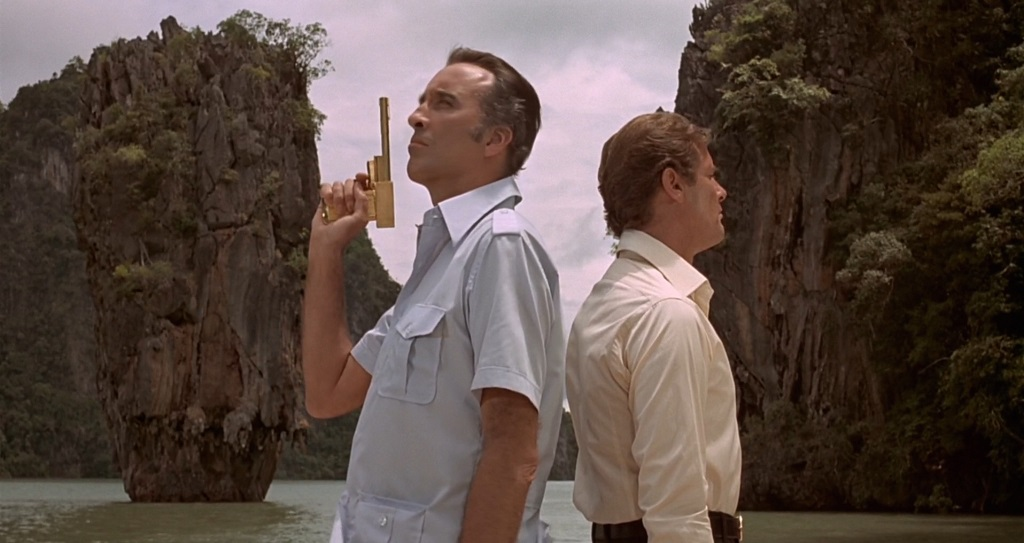 Christopher Lee and Roger Moore in The Man with the Golden Gun, © 1974 MGM/UA