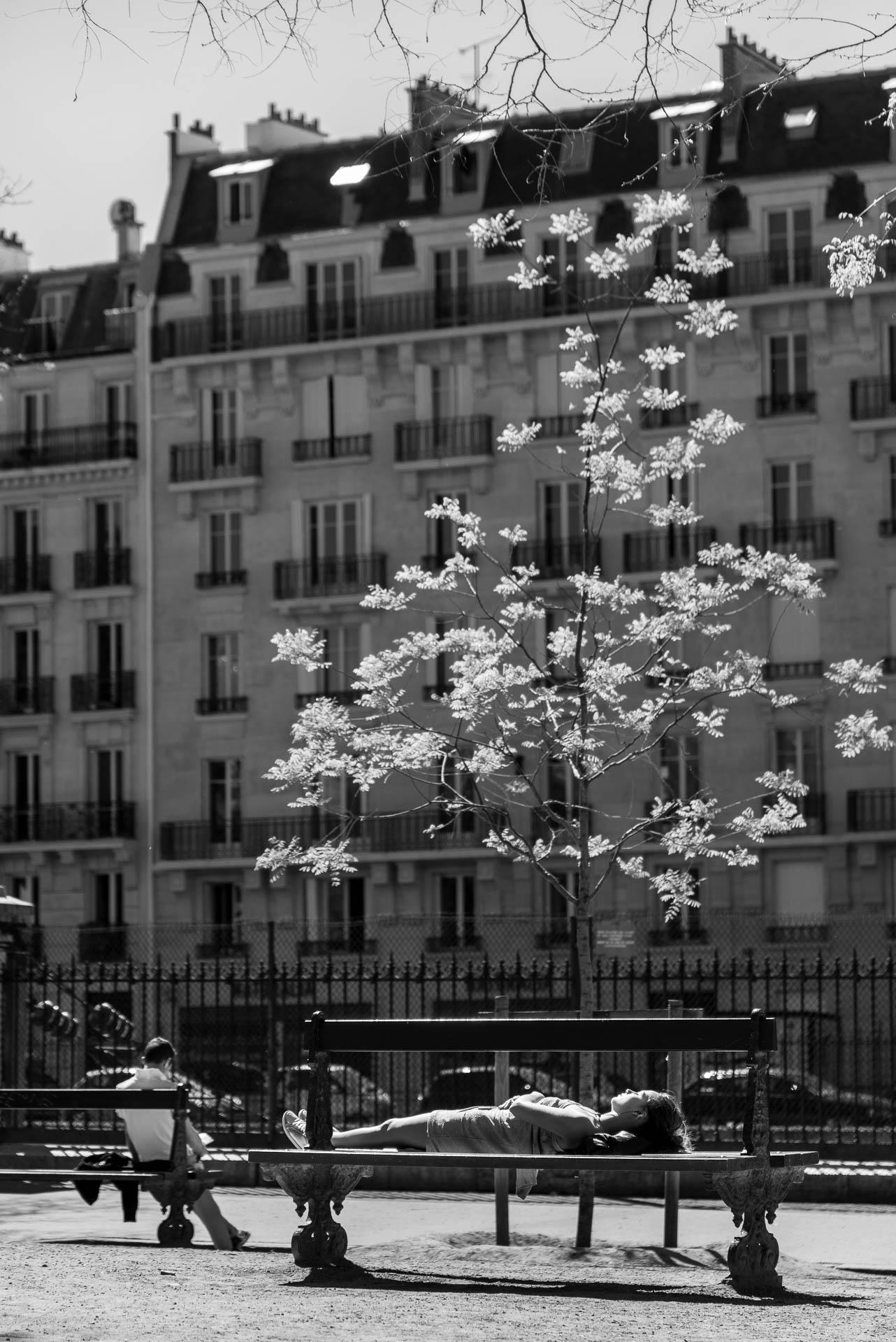 Street portrait - Square des Batignolles, Paris, France